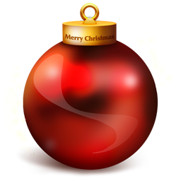 A big shiny red Chrismas bauble