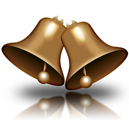Two gold bells